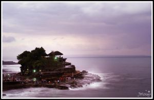 ... Sunset at Tanah Lot ... by JMckey