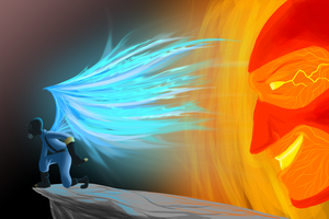 Ember BLU and RED Storm by Py-Bun