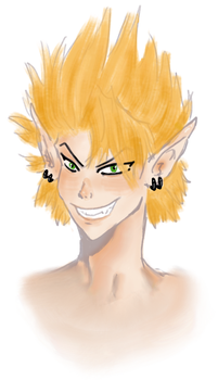sketch of Hiruma by Excelsior-Zone2