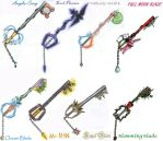 My Made Up Keyblades by animeartist67
