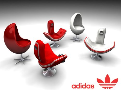 adidas 2 striped chairs by TonyHarris