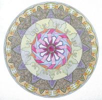 colour pencil circle 2 by Lou-in-Canada