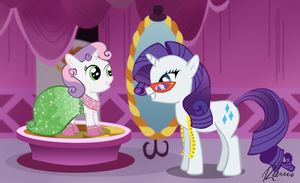 Rarity and Sweetie Belle by RebeccaHull45
