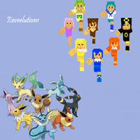 Eeveelutions Minecraft skins by Amayanina