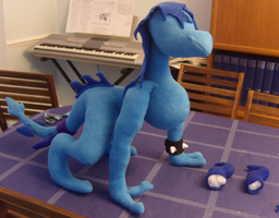 Sky Plushie WIP by Dark-Dragon-Spirit