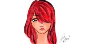 The Red Haired Girl by Vallia