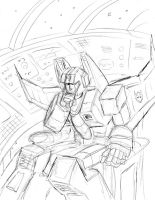 Starscream in Repose Sketch by Charger426