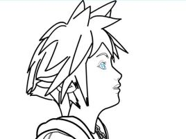 How to draw Sora of Kingdom Hearts Part 2 by SketchHeroes