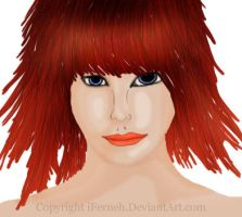 Red Haired Girl by iFerneh