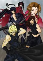 Final Fantasy VII Advent Children Coloured by leonalmasy