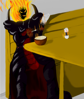 Request-Dormammu eating cereal by ShadowZiggy