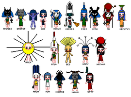 Ancient Egyptian Gods by Devispooky777