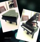 Grand Piano Papercraft by meshell1129