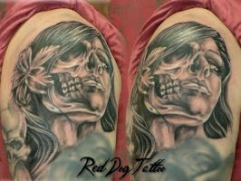 wayne tattoo II by Reddogtattoo