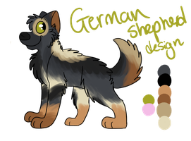 :PC: German shepherd design 1 by LouPup