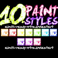 10 Paint Styles For Photoshop by AbouthRandyOrton