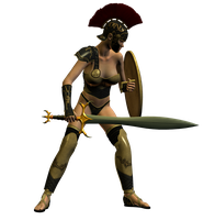 Spartana : Female Warrior 005 by Selficide-Stock