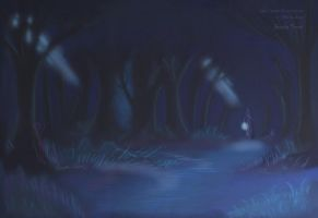 Ghostly Forest by aeris-ucchan