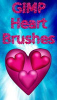 Heart GIMP Brushes by BaNaNA-BOi