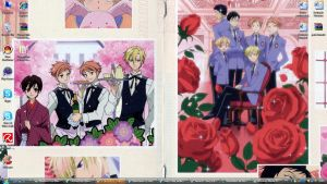 Ouran desktop. by M00-chan