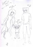Adventure Time with Finn, Marcy and Ty. by kuraikitsune13