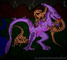 Ficton Raptor Fight by ipodsmakemyheadhurt