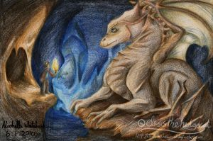 Merlin and the Dragon by mmishee