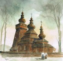 The orthodox church in Kwiaton by sanderus