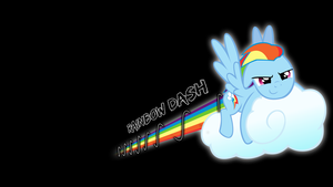 Rainbow Dash Glow Line Trail Desktop Wallpaper by AlphaMuppet