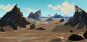 Jagged Mountains by DKDevil