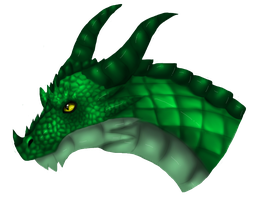 Dragon head green by KyuubiCore