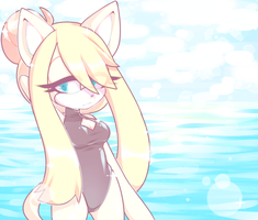 Babe on the beach by Mommy-Senpai