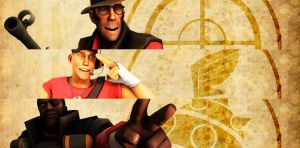 TF2 wallpaper pack preview by Rexcaliburr