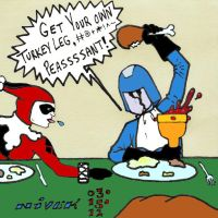 Cobra Commander Harley Quinn Turkey Dinner by N-I-V-E-K