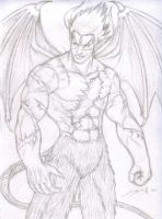 Rough Sketch: Devil Kazuya by TheALVINtaker