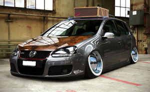Bagged Vw Golf Gti by JackinaboxDesign