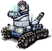 New Dominion Tank Police by alexsanlyra