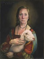 The Butcher (after 'Lady with an Ermine') by reubennegron