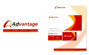 advantage logo and stationary by yosioci