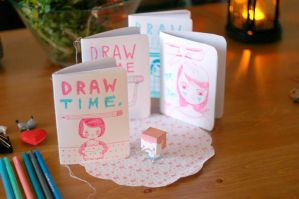 DRAW TIME drawing journals by perfectnoseclub