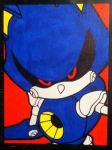 Metal Sonic painting by TheScarecrowOfNorway