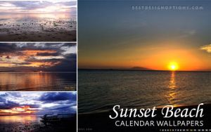 4 May 2013-Beach Sunset Wallpapers by fiftyfivepixels
