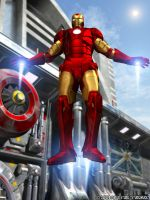 Iron Man Industrial Landing by sturkwurk