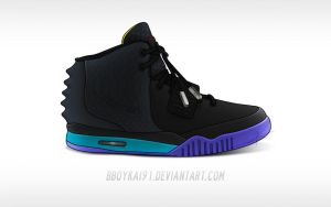 Nike Air Yeezy 2 'Aqua' by BBoyKai91