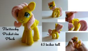 Fluttershy Pocket-size Plush by Hyper-piston
