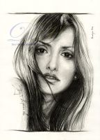 Penelope Cruz drawing by dasidaria-art