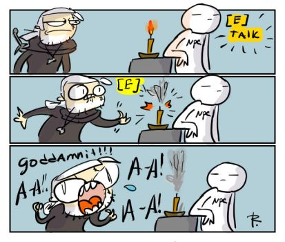 The Witcher 3, doodles 176 by Ayej