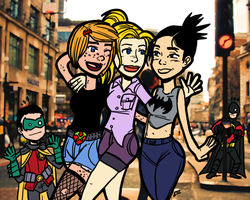 Batgirls' Night Out by theEyZmaster