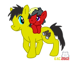 MLT-Bumblebee and Blaster by rosa-pegasus
