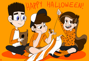 Gravity Falls Paranorman Halloween by asian-idiot